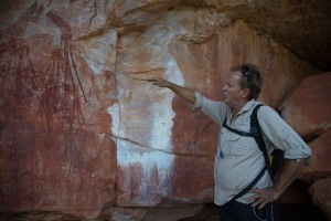Kevin lead us down into caves to see rock drawings that have survived 40 thousand years.