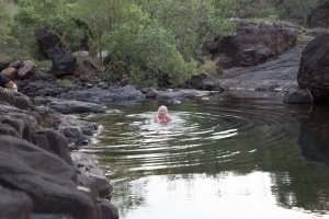 My reward for being stung by gren ants and clambering over 100 metres of boulders to swim beyond reach of crocodiles!