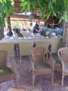 The restaurant we return to each evening after adventuring in the regions of Faaraway Bay